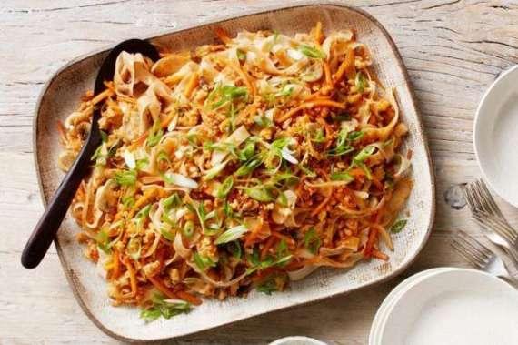 Chicken Vegetable With Rice Noodles Recipe In Urdu