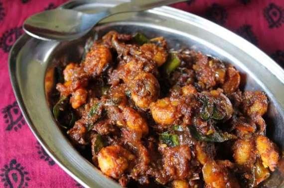Fried Prawn Masala Recipe In Urdu