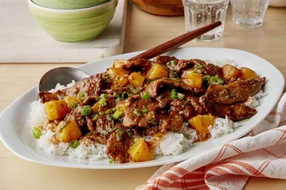 Beef Fried Rice With Grilled Pineapple Recipe In Urdu