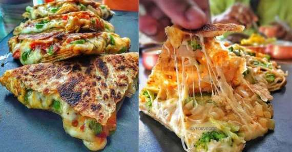 Cheesy Pizza Paratha Recipe In Urdu