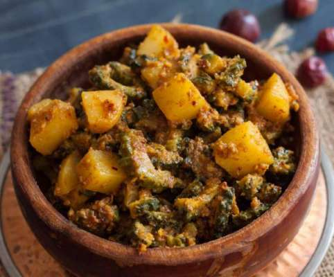 Punjabi Kareele Aalu Ki Sabzi Recipe In Urdu