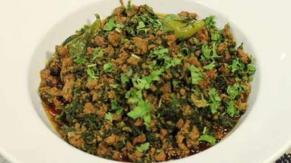 Saag Qeema Recipe In Urdu