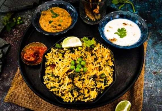 Methi Matar Pulao Recipe In Urdu