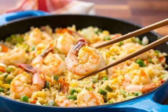 Prawn Chinese Vegetable Rice Recipe In Urdu