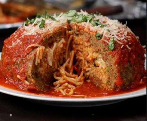 Spaghetti Stuffed Meatballs Recipe In Urdu