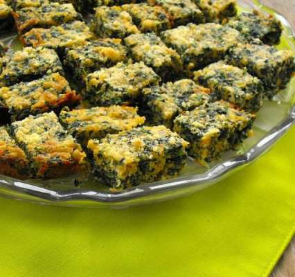 Spinach Cheese Squares Recipe In Urdu