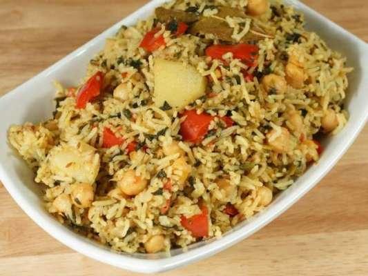 Chickpea Pulao Recipe In Urdu
