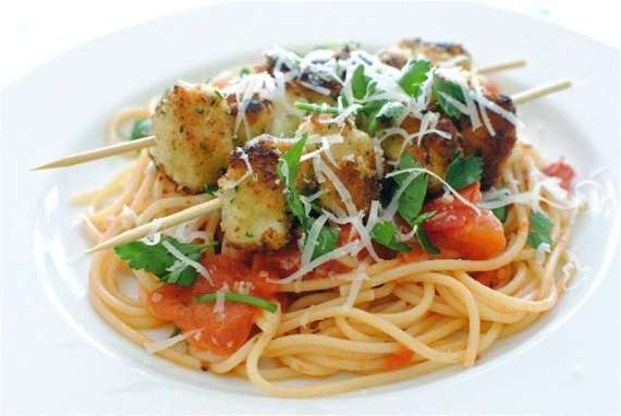 Chicken Kebab With Spaghetti Recipe In Urdu