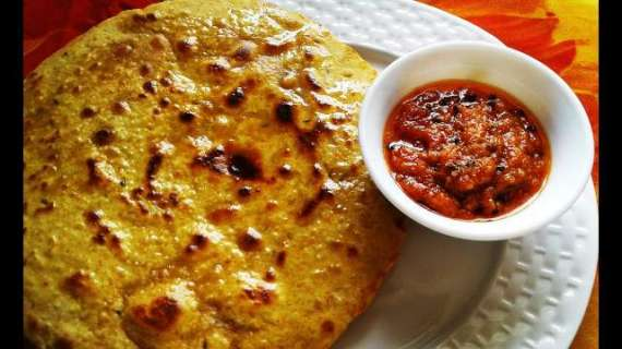 Besan Ki Roti Aur Chutney Recipe In Urdu