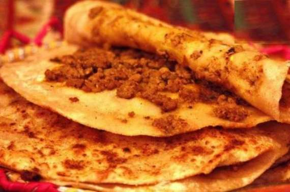 Qeema Ke Harey Bharay Parathay Recipe In Urdu