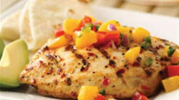 Spicy Grilled Chicken With Mango Salsa Recipe In Urdu
