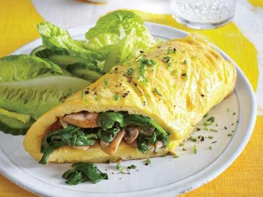 Meaty Spinach Omelette Recipe In Urdu