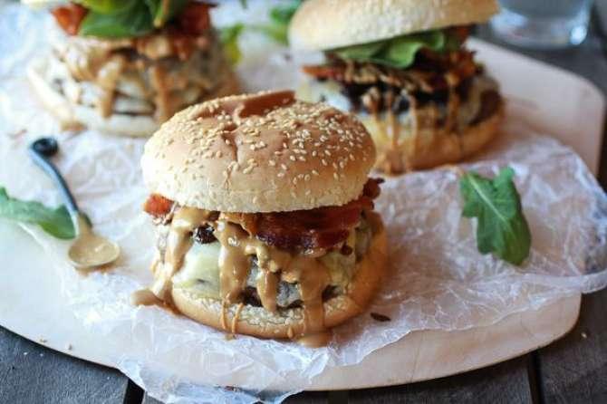 peanut butter chicken burger Recipe In Urdu