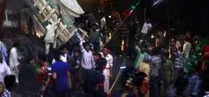 PTI workers blocked Metro Bus in Lahore