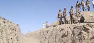 Trench along Pakistan and Afghan border