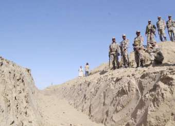Trench Along Pakistan And Afghan Border