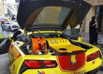 Dubai's 300kmph Firefighting Corvette Supercar