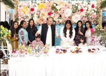 PM Nawaz Shareef Celebrating His Grand Daughter's 13th Birthday