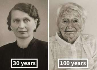 Then And Now Same People Photographed As Young And Old Age