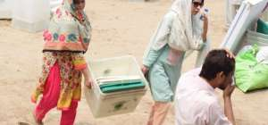 عام انتخابات2018ء کے سلسلہ میں پولنگ کے سامان کی ترسیل کا کام مکمل