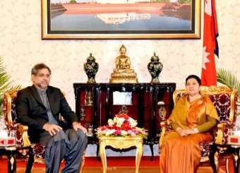 PM Shahid Khaqan Abbasi During His Visit To Nepal