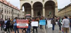 برلن ، میونخ، فرینکفرٹ میں احتجاجی مظاہروں کی تصاویر