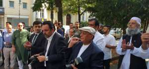 جرمنی میں پاکستانی سفارتخانے میں یوم آزادی کے موقع پر پرچم کُشائی کی تقریب