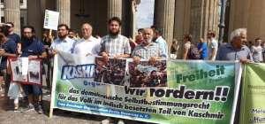 برلن میں پاکستانیوں کا کشمیروں کے حق میں مظاہرہ