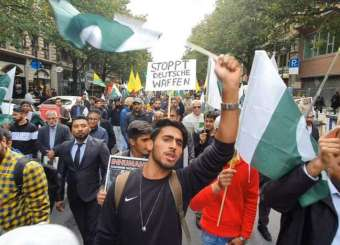 Pakistanis Protest In Germany