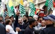 Duniya Bhar Mein Kashmirion Ke Haq Aur Bharat Ke Khilaaf Muzahiron Ka Silsila Jari