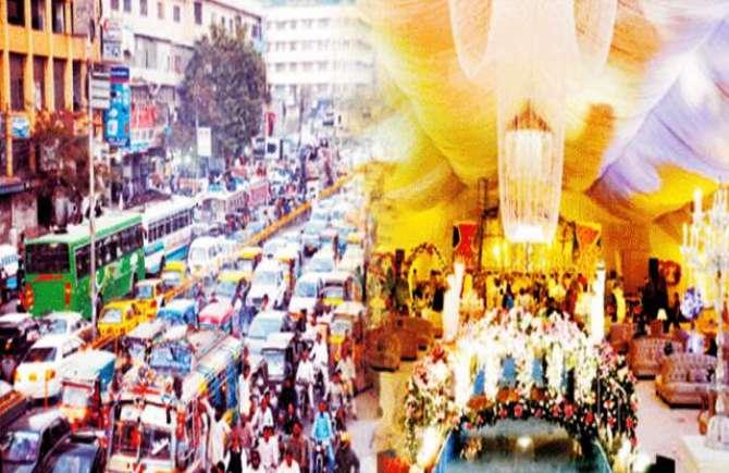 Shadi Hall Aur Traffic Masayel