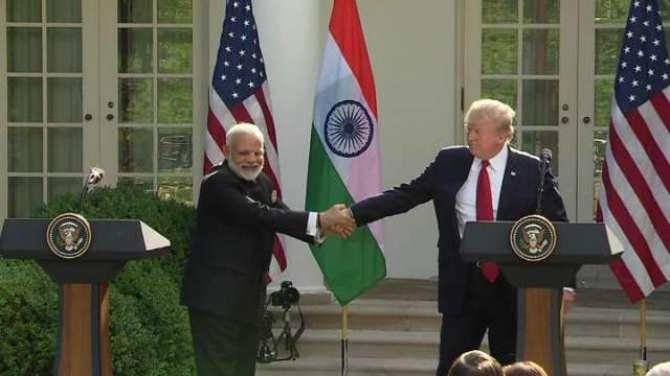 tarjeehi mulk ka darja, America ki Bharat  ko jhandi