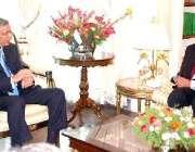 اسلام آباد، وزیر اعظم شوکت عزیز بھارتی ہائی کمشنر شیو شنکر سے ملاقات ..