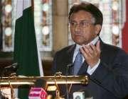 لندن، صدر مشرف اکسفورڈ یونیورسٹی میں خطاب کر رہے ہیں۔