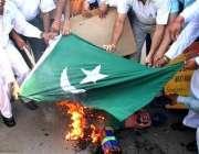 امرتسر، انتہا پسند بھارتی مظاہرین ٹرین بم دھماکوں میں پاکستان کے مبینہ ..