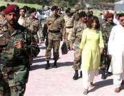 چکوٹھی، انتہائی سخت سکیورٹی میں جنرل مشرف چکوٹھی کے دورہ پر آرہے ہیں۔