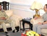 اسلام آباد، صدر مشرف سے نیٹو کے سربراہ ڈیوڈ رچرڈ ملاقات کر رہے ہیں۔