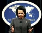 واشنگنٹن،امریکی وزیر خارجہ کونڈو لیزا رائس واشنگٹن میں پریس کونفرنس ..