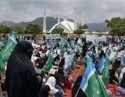 اسلام آباد،متحدہ مجلس عمل کی ہزاروںخواتین کارکن لال مسجد جامعہ حفصہ ..