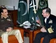 راولپنڈی،چیئرمین برائے امریکی جوائنٹ چیفس آف سٹاف ایڈمرل مائیکل مولن ..