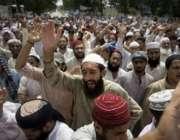 اسلام آباد،لال مسجد اوردیگر مدارس کے طلبا نماز جمعہ کے بعد لال مسجد ..