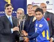 لاہور،وزیر اعظم سید یوسف رضاگیلانی سری لنکن ٹیم کے کپتان جے وردنے کو ..