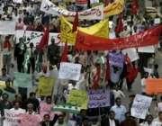 لاہور،سول سوسائٹی کے کارکن سوات میں لڑکی کو سرعام کوڑے مارنے کیخلاف ..