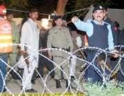 اسلام آباد،پولیس اہلکار مارگلہ روڈ پر ایف چیک پوسٹپر خودکش حملے کے ..