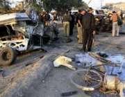 پشاور،شہریوں اور سیکورٹی اہلکاروںکی بڑی تعداد پشت خرہ کے قریب چیک ..