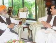 اسلام آباد،جمعیت علمائے اسلام کے امیر مولانا فضل الرحمن وزیراعظم یوسف ..