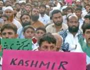 اسلام آباد،جماعت اسلامی کے کارکن آبپارہ میں بھارت مخالف مظاہرے میں ..