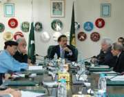 اسلام آباد، وزیرداخلہ رحمان ملک وزارت داخلہ میں اعلی سطحی اجلاس کی ..