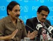 اسلام آباد، چئیرمین ایم ڈی ایم اے ڈاکٹر ظفر قدیر پی آئی ڈی میڈیا سینٹر ..