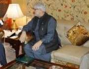 اسلامآباد، فاٹا سے پارلیمانی لیڈر منیر خان اورکزئی وزیراعظم یوسف ..